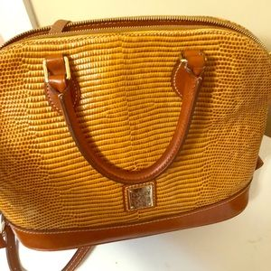 Dooney and Bourke Crossbody Tan Leather Bag